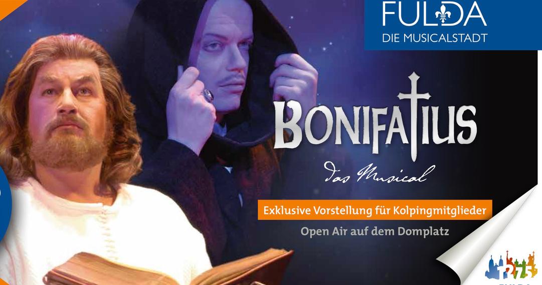 Kartenvorverkauf Bonifatiusmusical beginnt am 16. Juli 2018 - Kolping Exklusivvorstellung